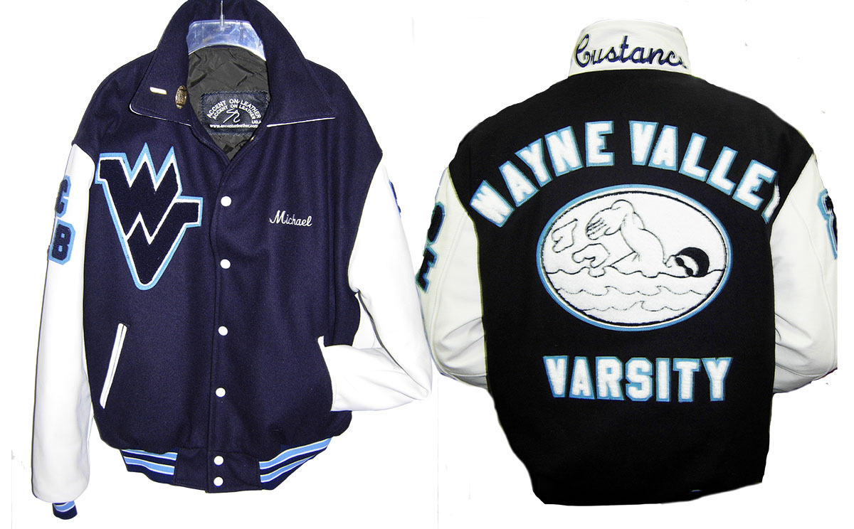 Varsity Jacket Wayne Valley HS Swimming