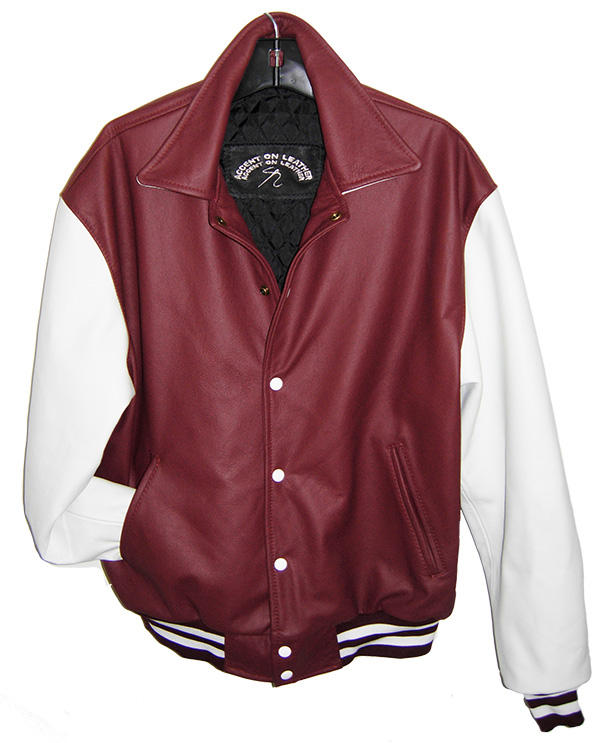 all leather varsity jacket